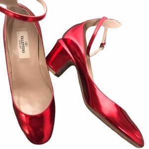 Valentino Red Mirrored Tango Pumps - Size 36 IT